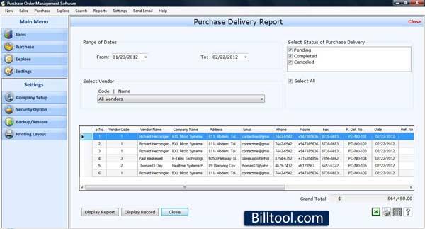 Windows 7 Purchase Order Organizer 3.0.1.5 full